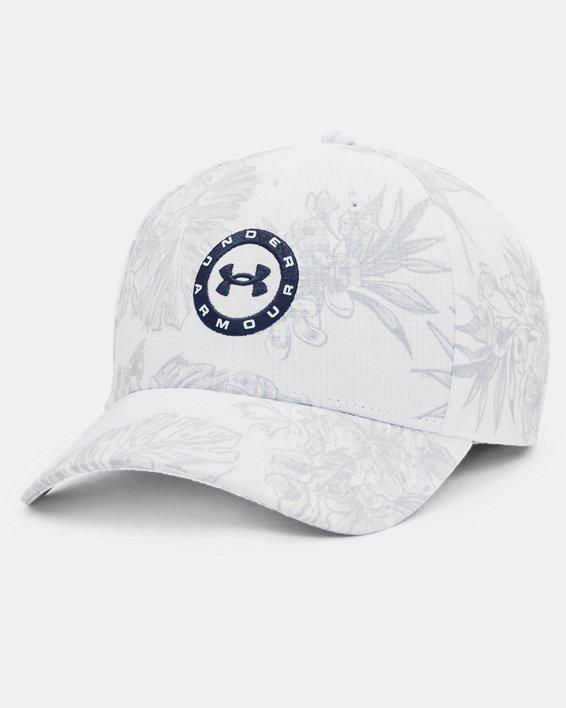 Men's UA Jordan Spieth Tour Adjustable Hat, White, pdpMainDesktop image number 0