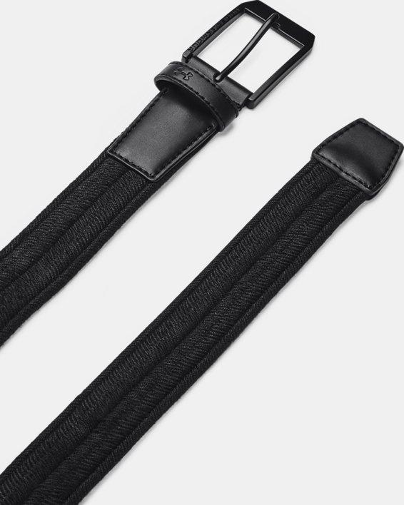 Men's UA Braided Golf Belt, Black, pdpMainDesktop image number 0