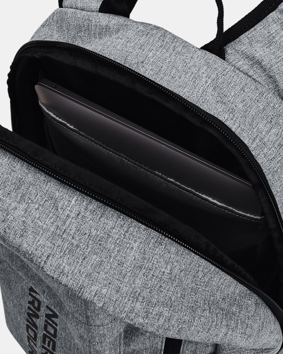 Unisex UA Halftime Backpack, Gray, pdpMainDesktop image number 4