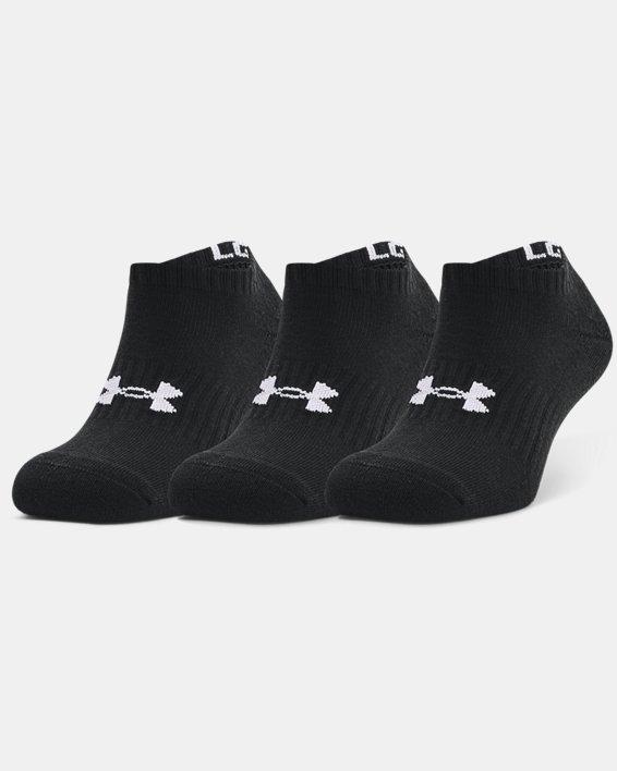 Unisex UA Core No Show 3-Pack Socks, Black, pdpMainDesktop image number 2