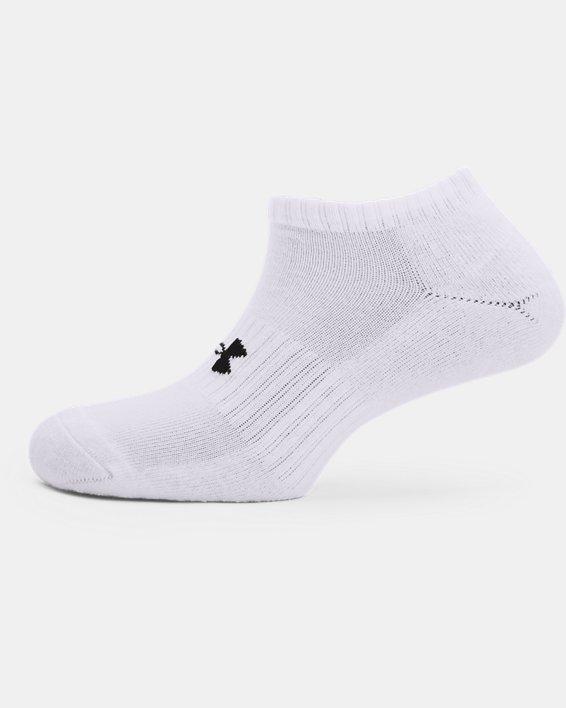 Unisex UA Core No Show Socken im 3er-Pack, White, pdpMainDesktop image number 3