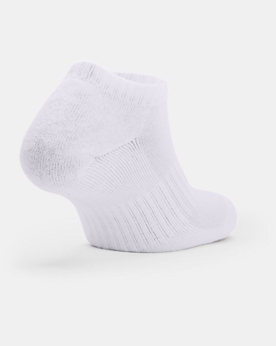 Unisex UA Core No Show Socken im 3er-Pack, White, pdpMainDesktop image number 1