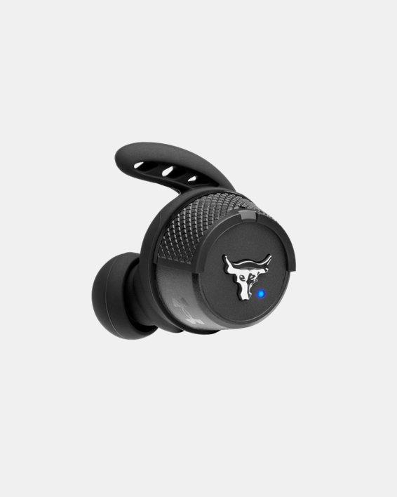 UA True Wireless Flash X Project Rock Edition Headphones, Black, pdpMainDesktop image number 13