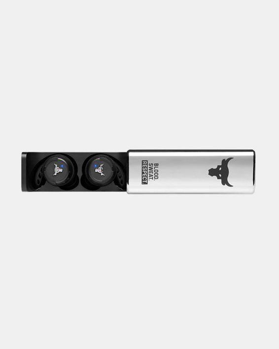 UA True Wireless Flash X Project Rock Edition Headphones, Black, pdpMainDesktop image number 6