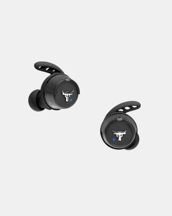 UA True Wireless Flash X Project Rock Edition Headphones, Black, pdpMainDesktop image number 0
