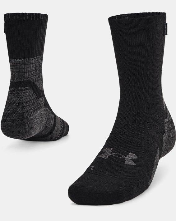 Unisex UA ArmourDry™ Run Wool Socks, Black, pdpMainDesktop image number 0