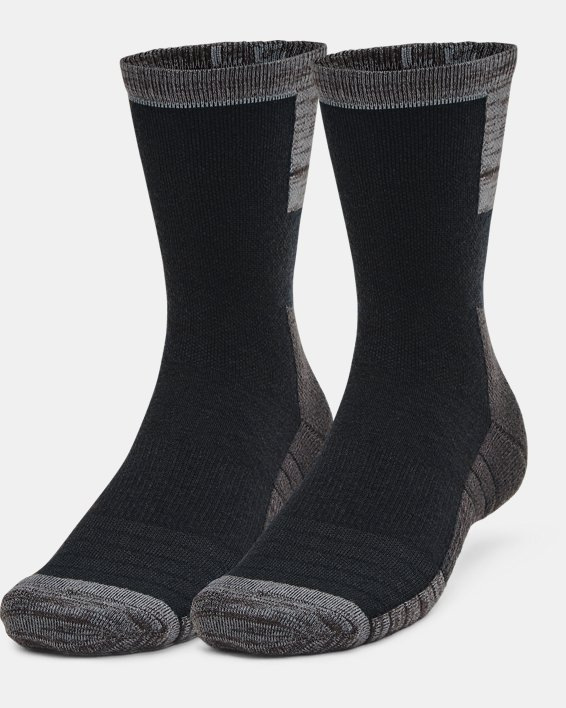 Unisex UA Cold Weather Crew Socks 2-Pack, Black, pdpMainDesktop image number 0