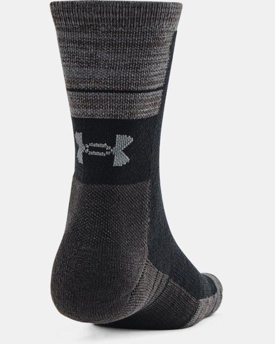 Unisex UA Cold Weather Crew Socks 2-Pack, Black, pdpMainDesktop image number 2