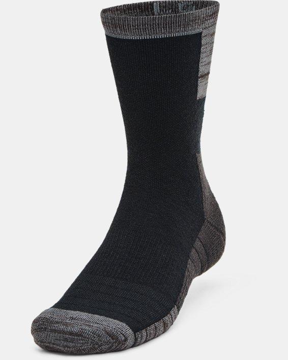 Unisex UA Cold Weather Crew Socks 2-Pack, Black, pdpMainDesktop image number 1