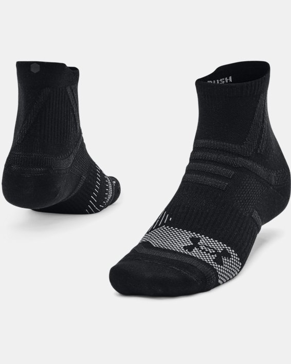 Unisex UA RUSH™ Quarter Socks, Black, pdpMainDesktop image number 0