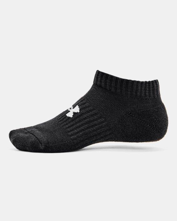 Kids' UA Core No Show Socks 3-Pack, Black, pdpMainDesktop image number 2