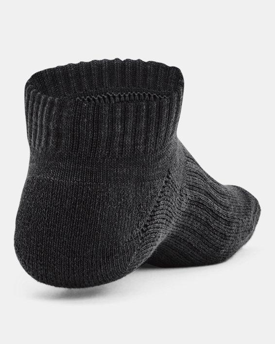 Kids' UA Core No Show Socks 3-Pack, Black, pdpMainDesktop image number 1