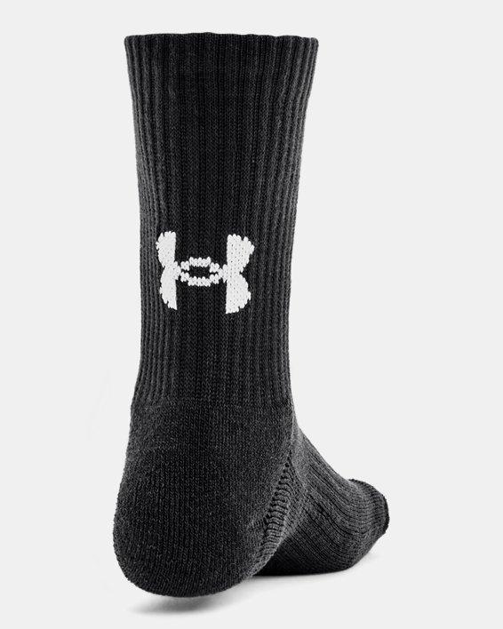 Kids' UA Core Crew Socks 3-Pack, Black, pdpMainDesktop image number 1