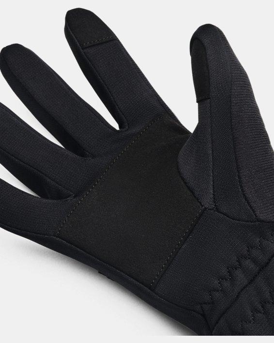 Women's UA Storm Fleece Gloves, Black, pdpMainDesktop image number 2