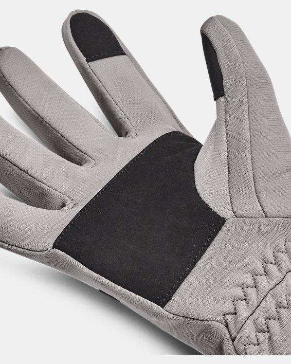 Women's UA Storm Fleece Gloves, Gray, pdpMainDesktop image number 2