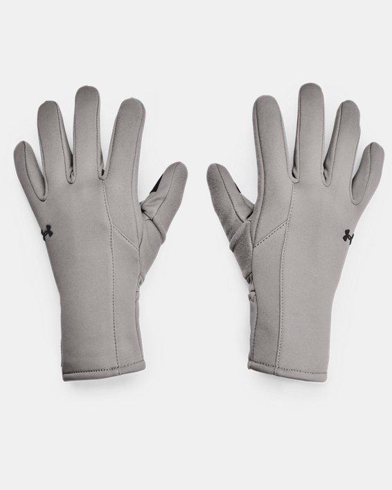 Women's UA Storm Fleece Gloves, Gray, pdpMainDesktop image number 0