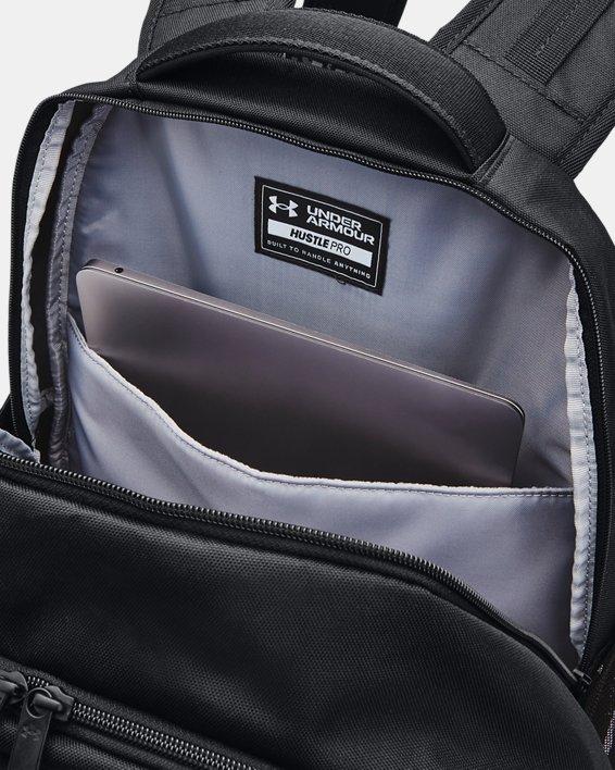 UA Hustle Pro Backpack, Black, pdpMainDesktop image number 3