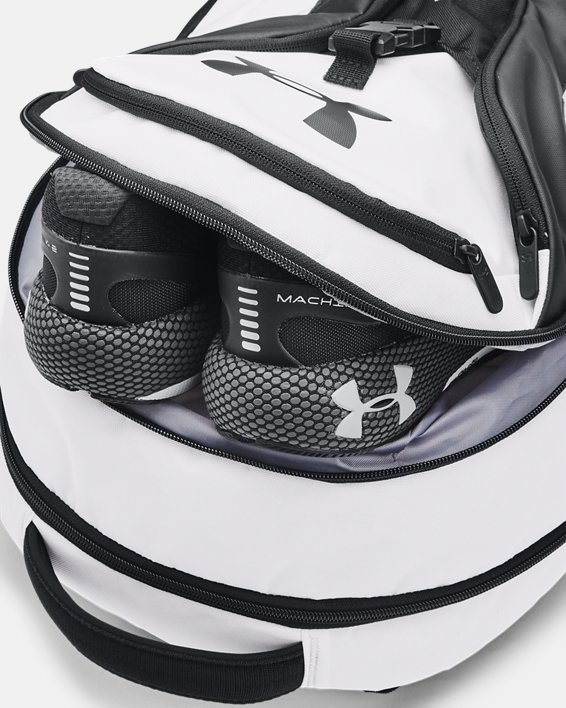 UA Hustle Pro Backpack, White, pdpMainDesktop image number 4