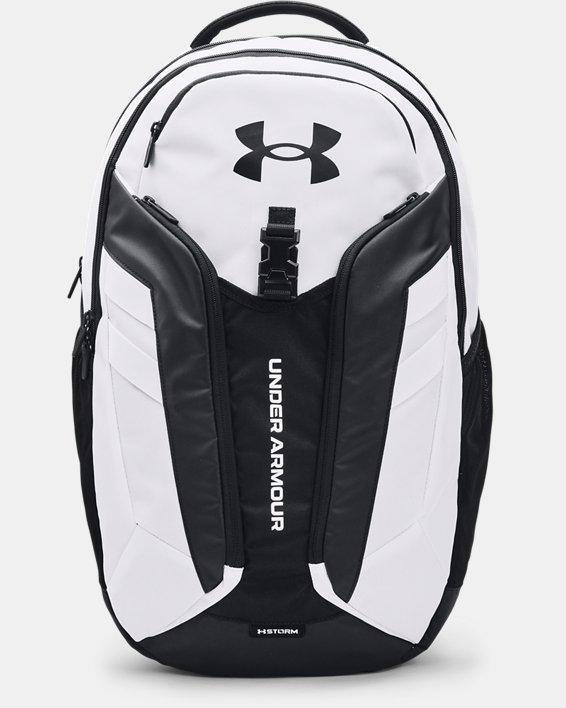 UA Hustle Pro Backpack, White, pdpMainDesktop image number 0
