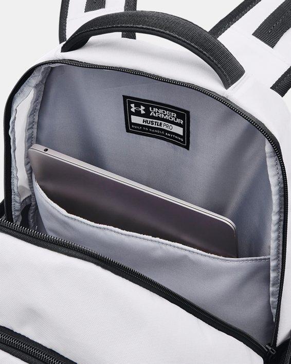 UA Hustle Pro Backpack, White, pdpMainDesktop image number 3