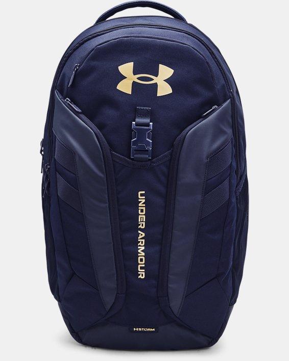 UA Hustle Pro Backpack, Navy, pdpMainDesktop image number 0