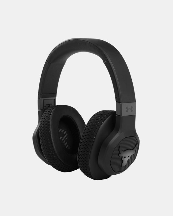 UA Project Rock Over-Ear Training Headphones, Black, pdpMainDesktop image number 0