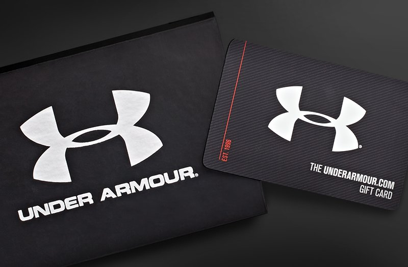 5 days ago · Under Armour. Delivered in a custom Under Armour gift box, the UA gift card has no expiration date and can even be used over the phone. Send the gift for between $25 and $ to any Under Armour.