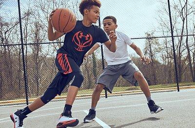 Black teen basketball players interesting