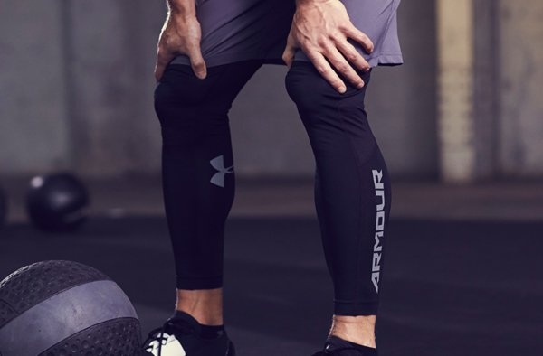 Man in Under Armour Leggings
