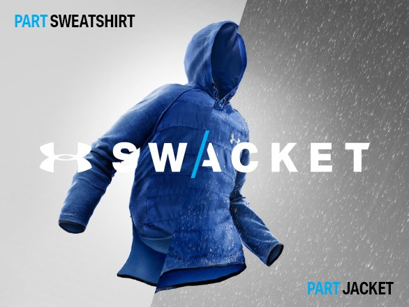 Under Armour Swacket - Part sweatshirt, Part jacket.