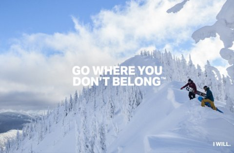 Under Armour Ski/Snowboard - Go Where You Don't Belong.