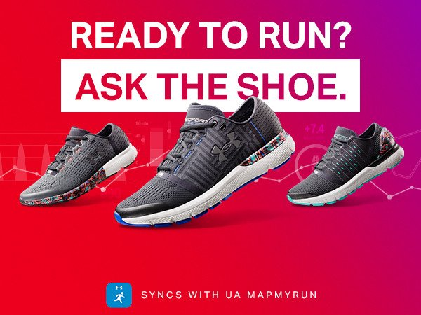 Record Equipped - Ready to run? Ask the shoe.  Syncs with UA Mapmyrun.