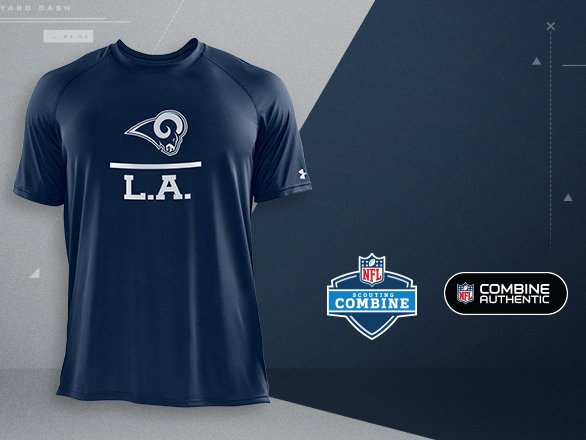 Los Angeles Rams Gear - NFL Combine  00a35ba534