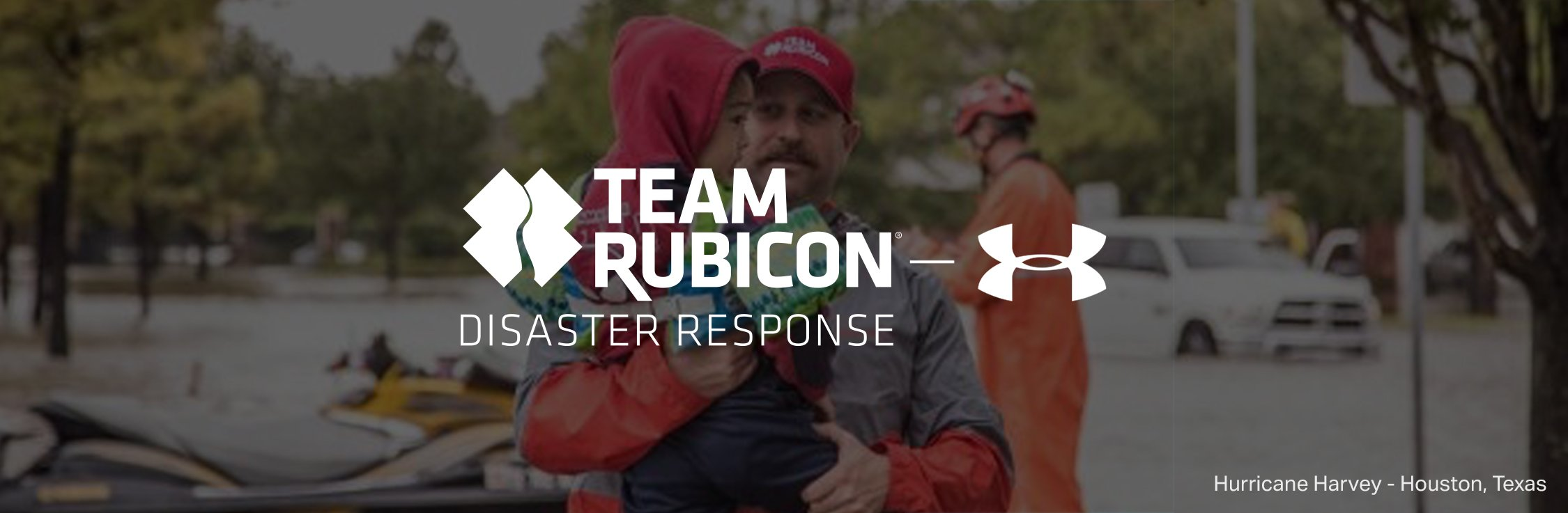 Sports will change the world under armour us team rubicon disaster response under armour logos with man carrying boy after hurricane harvey falaconquin