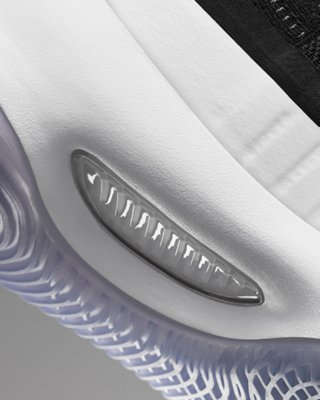 Close-up shot of the midsole of the UA Curry 4 basketball shoe showing the locked-in fit
