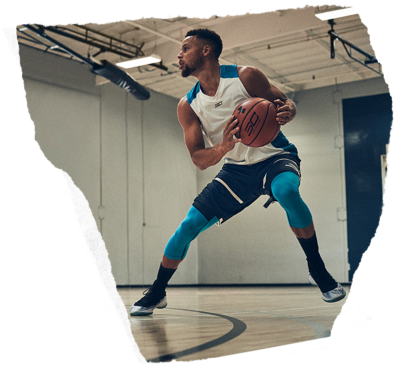 Stephen Curry wearing UA SC30 gear and UA Curry 4 Basketball Shoes practicing a cut on the court