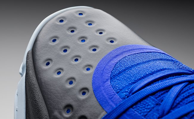 "check out 50dce 95cc6 The Curry 4 ""More Fun"" colorway features a royal upper that fades into a  deep navy toebox, matching the blue midsole and complemented by grey  traction, ..."
