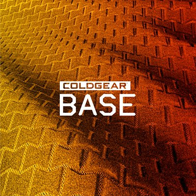 ColdGear Base. Close-up of textured base fabric in an orange & yellow light