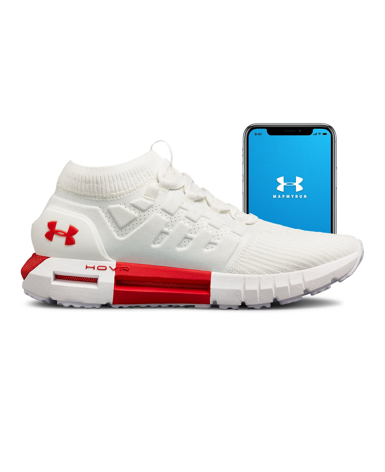 Men's UA HOVR Phantom Connected, White,