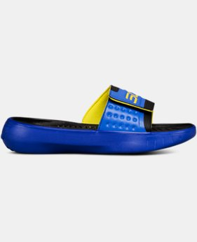 New Arrival Boys' UA Curry 4 Slides  2 Colors $40