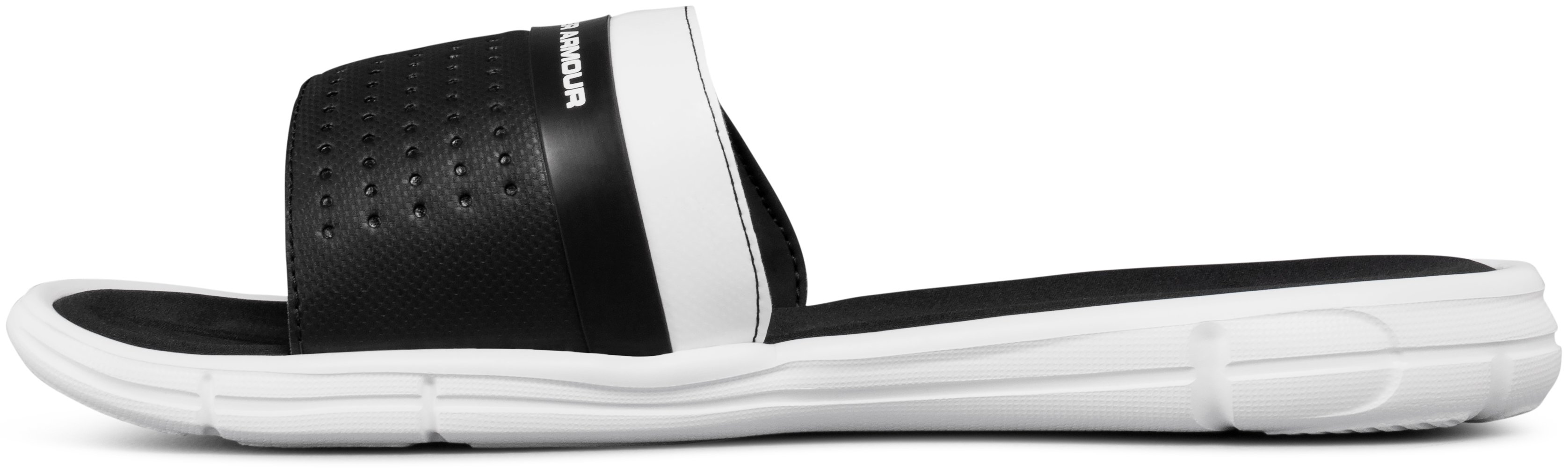Men's UA Mercenary IX Slides, White, undefined