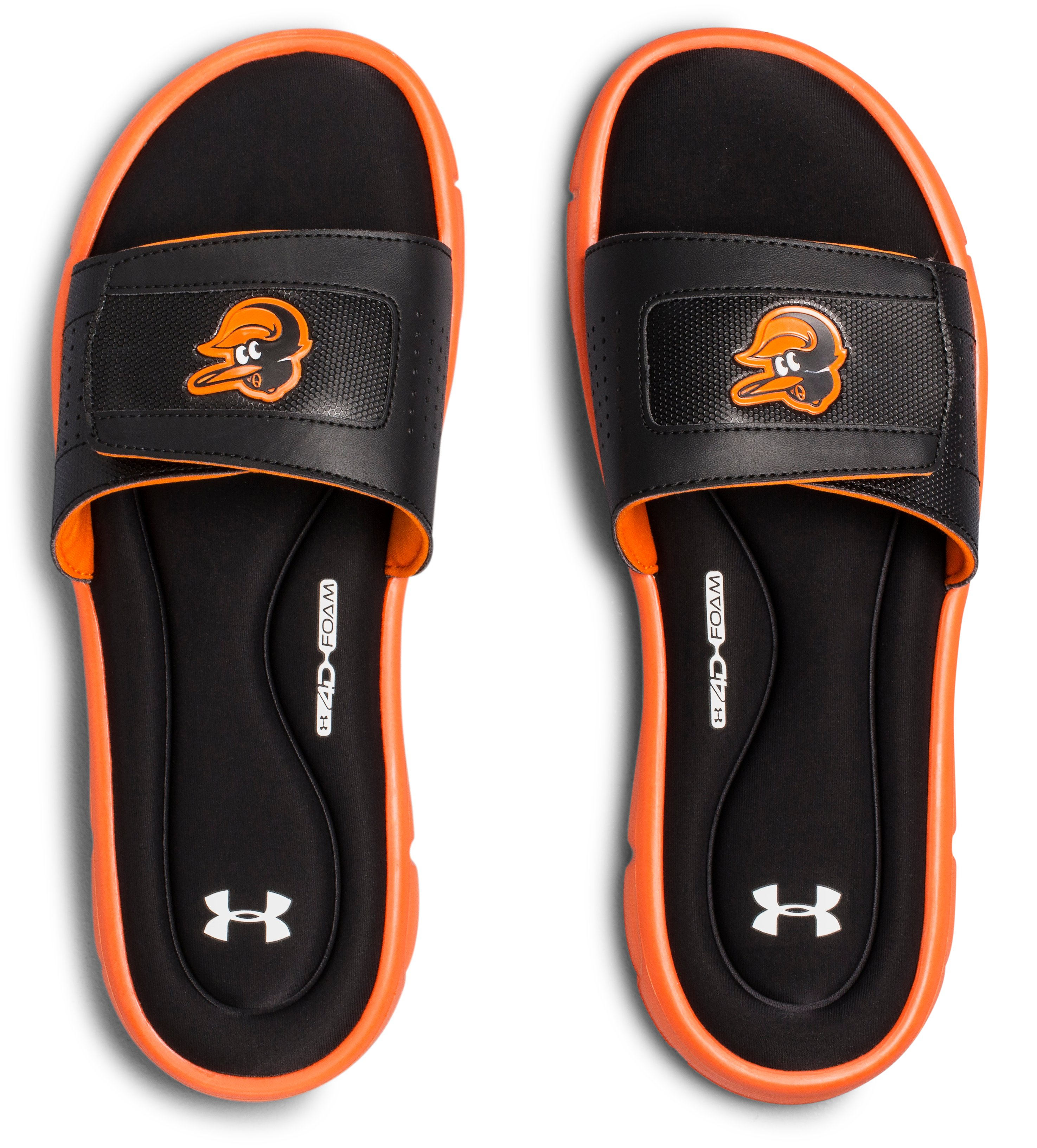 Men's UA Ignite V MLB Slides, Black ,
