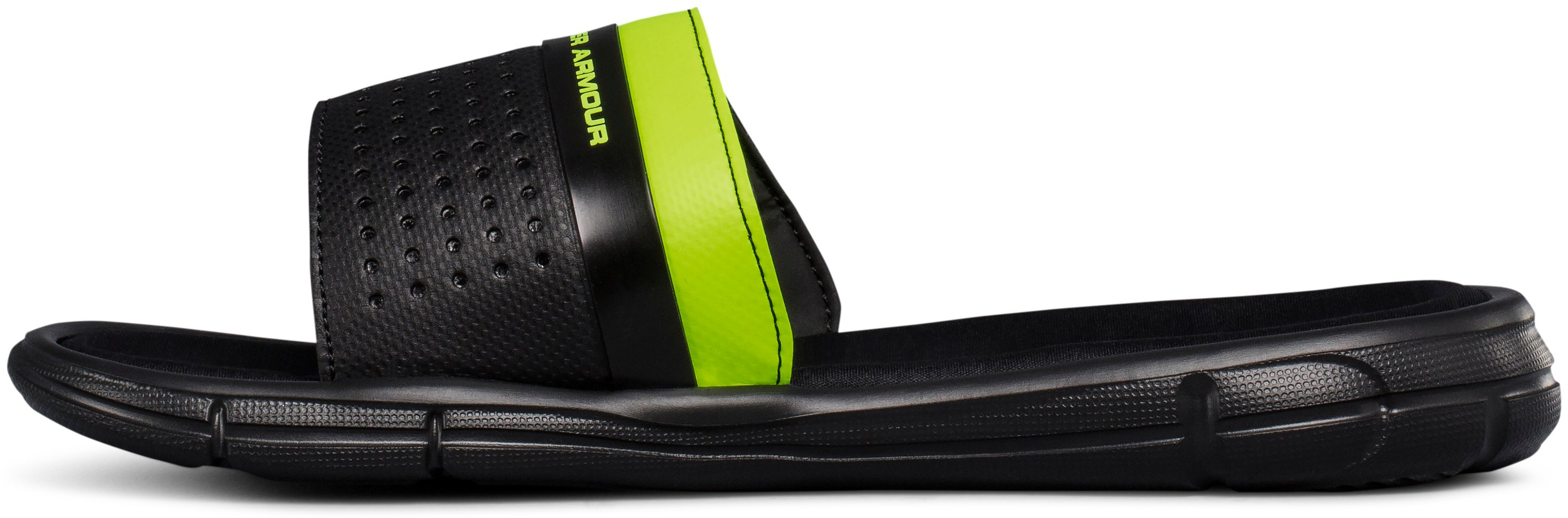 Boys' UA Mercenary IX Slides, Black ,