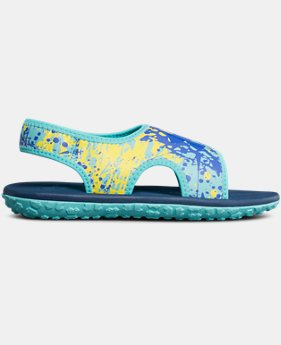 New Arrival Girls' Pre-School UA Fat Tire II Sandals   $40
