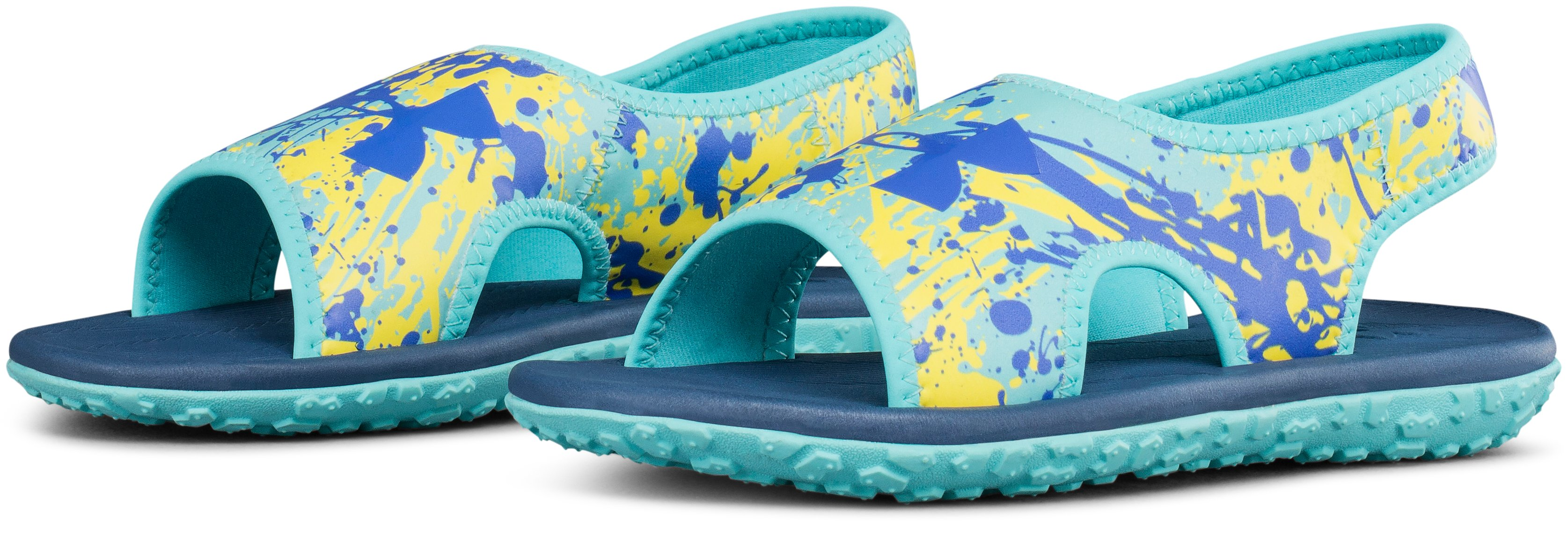 Girls' Pre-School UA Fat Tire II Sandals, TROPICAL TIDE,