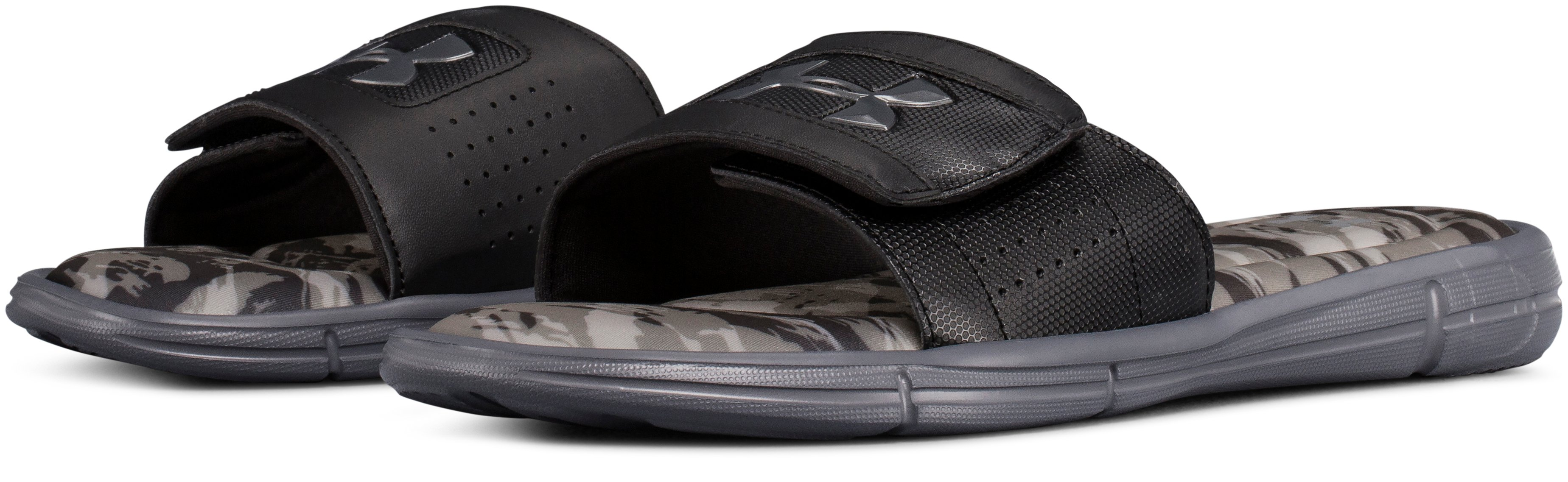 Men's UA Ignite V Breaker Slides, Black , undefined