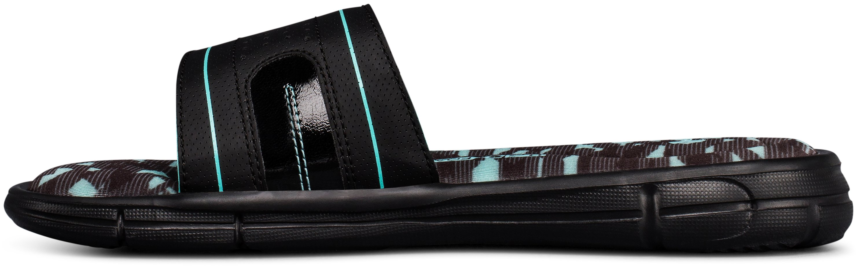 Women's UA Ignite VIII Edge Slides, Black ,