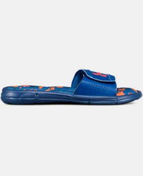 New Arrival Boys' UA Ignite V Breaker Slides  1 Color $32