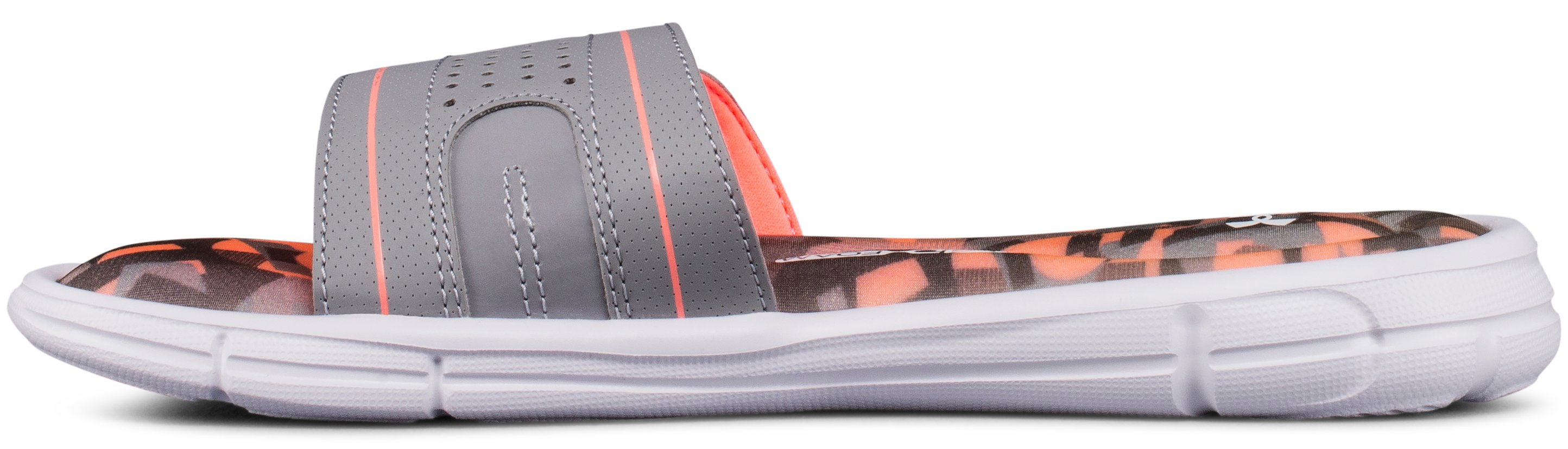 Girls' UA Ignite VIII Alpha Slides, Steel,