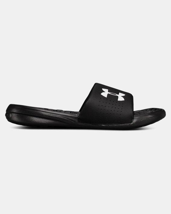 Men's UA Playmaker Fixed Strap Slides, Black, pdpMainDesktop image number 0